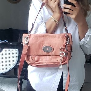 Fossil]  purse with cross body bag